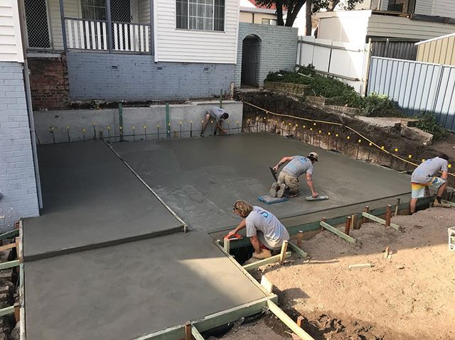 Concreting in Wollongong by Seaside