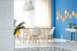 Blue Feature Wall